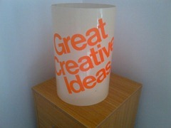 Kartell Gino Colombini wastebasket, special edition: Great Creative Ideas