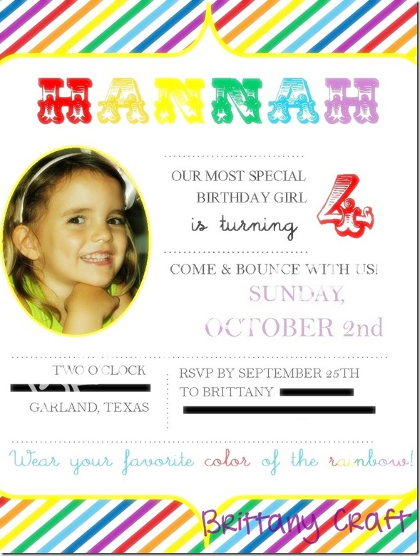 Hannah's invitation 2