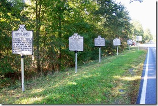 Group of markers along with McClellan's Crossing on U.S. Route 60