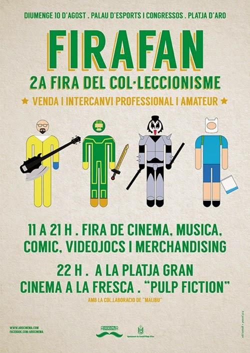Cartel FiraFan 2014 a Platja d'Aro