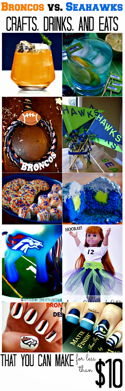 Broncos vs. Seahawks (crafts, drinks, and desserts)
