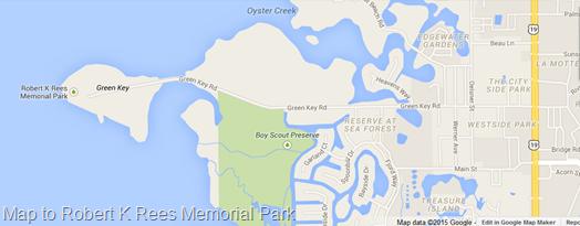 Map to Robert K Rees Memorial Park