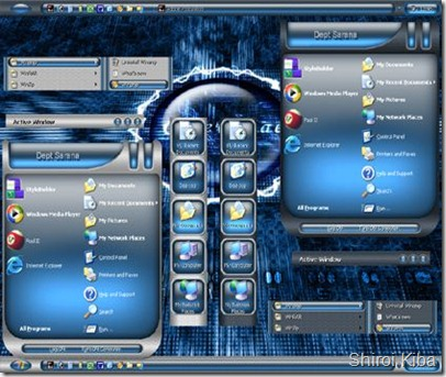 Blue Underglow XP Themes