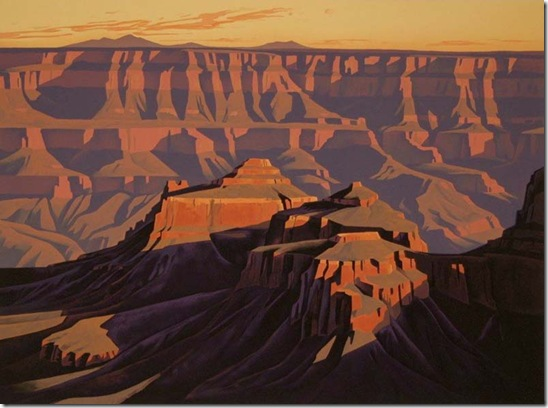 Ed Mell Grand Canyon Stone Lithograph 30 x 40 $950.00