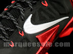 nike lebron 11 gr black red 4 04 New Photos // Nike LeBron XI Miami Heat (616175 001)