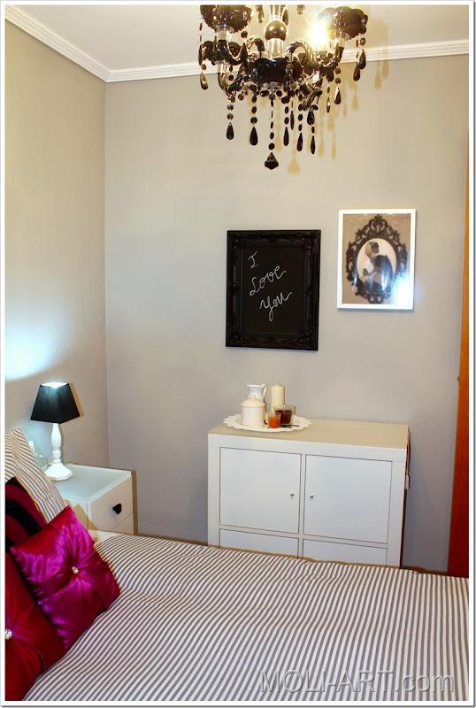 decoración-dormitorio-gris-blanco-negro-magenta-3