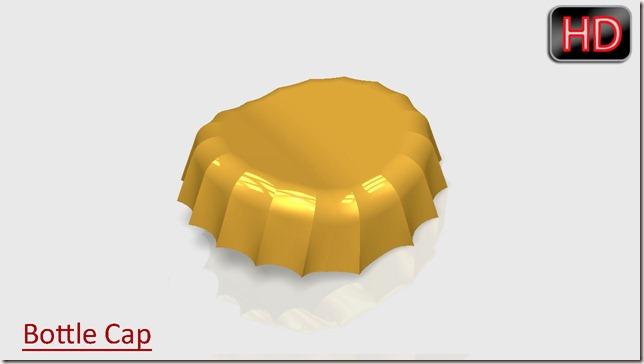 Bottle Cap (Deformaton effect as after uaing an Opener)