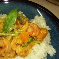 Prawn and Pumpkin Coconut Milk Curry - Konju Pulungari