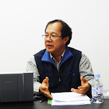 Sarawakの華人社会について話すDaniel Chew氏 / Mr. Chew shared his thoughts on the society of ethnic Chinese in Sarawak.