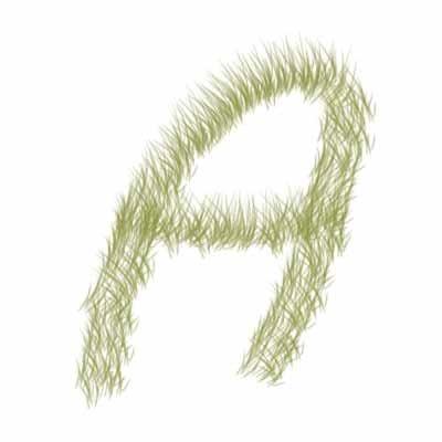 Texto efecto hierba con Photoshop - Aplicar pincel de hierba