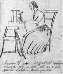 mulher costurando