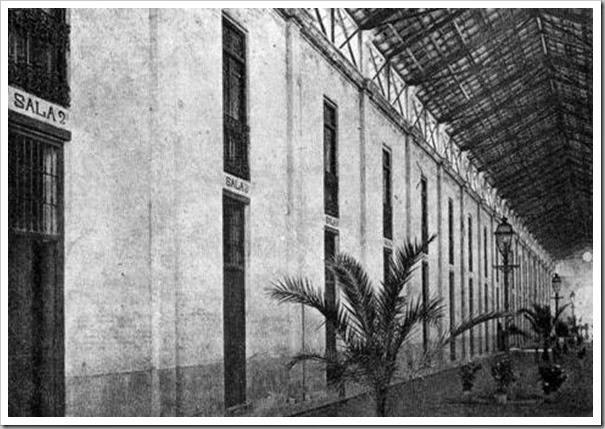 1909 interior Lonja Pescadores habilitada hospital