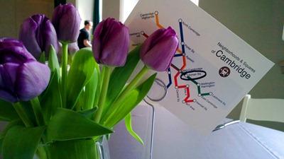 Purple Tulip Centerpiece | Modern Boston Wedding | Ideas in Bloom