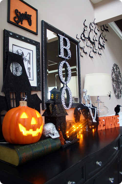 Halloween up in here from thrifty decor chick for B m halloween decorations