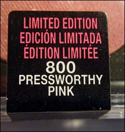 Maybelline Pressworthy Pink