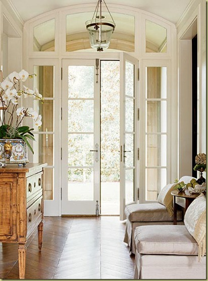 traditional interior french doors