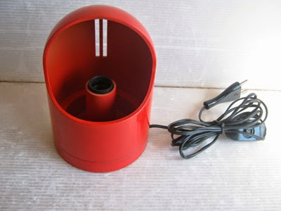 red plastic lamp