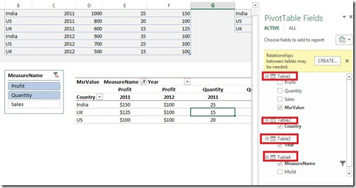 3 Changed table names in Excel 2013