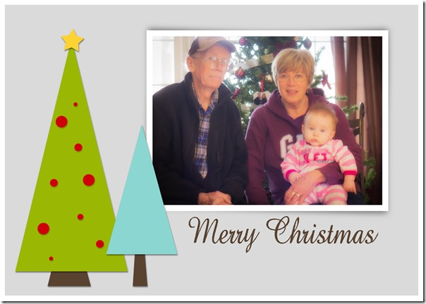 Christmas card with Paul Val and Kenzi