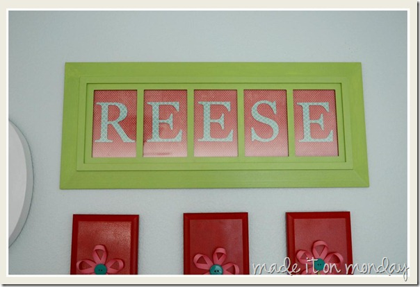 Ribbon Flowers Art - Framed Name