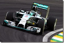Rosberg conquista la pole del gran premio del Brasile 2014