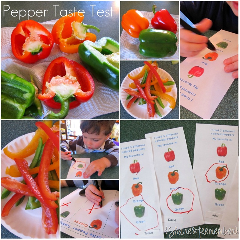 Pepper Taste Test Activity for Preschool