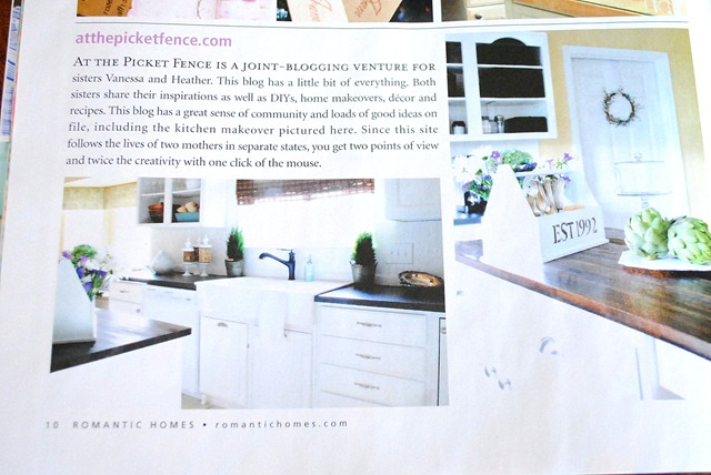 romantic homes magazine  feature