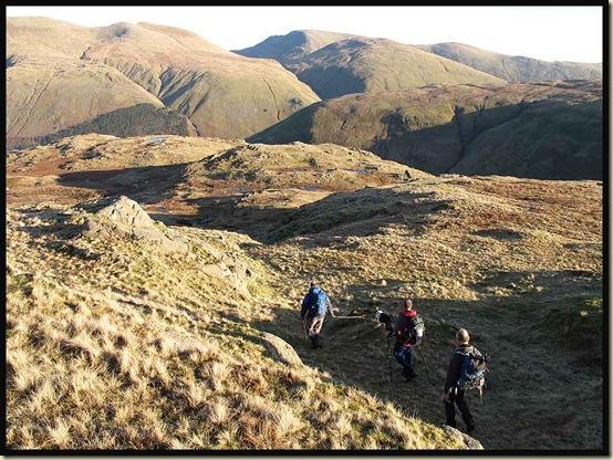 Descending from Ullscarf to Wythburn Fell, with Fairfield dead ahead