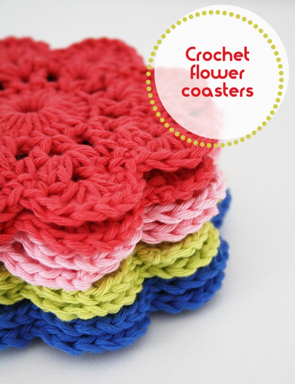 Crochet-flower-coasters