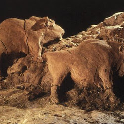 14 - Bisontes esculpidos en Cueva de Tuc d´Audoubert
