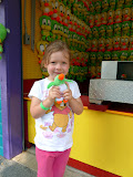 Carny prize at Dutch Wonderland. (August)