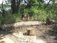 Plimoth Plant hand made fish nets