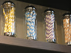 Striped and dotted paper straws come in a rainbow of colors