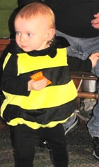 10.30.2011 Bella Halloween bumble bee trick or treating2