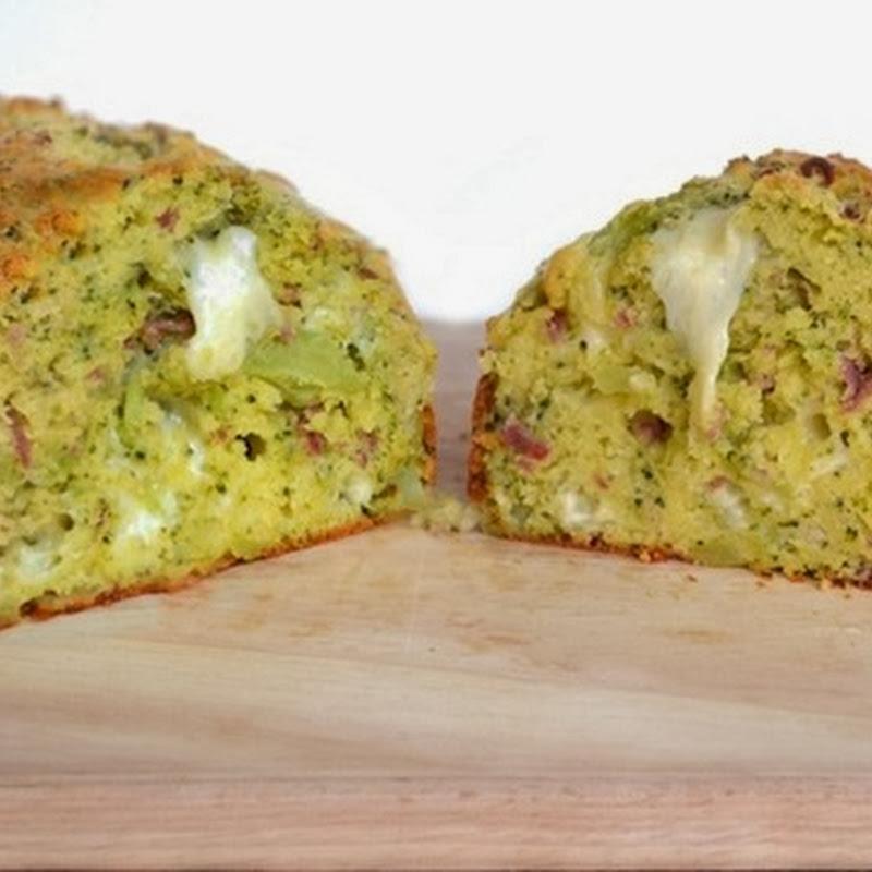 Αλμυρό ψωμί με μπρόκολο