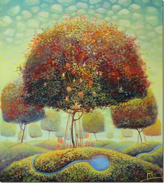 Namelis medyje-Modestas-Malinauskas-ENKAUSTIKOS
