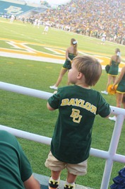 Nash's 1st day of School & Baylor Game 075