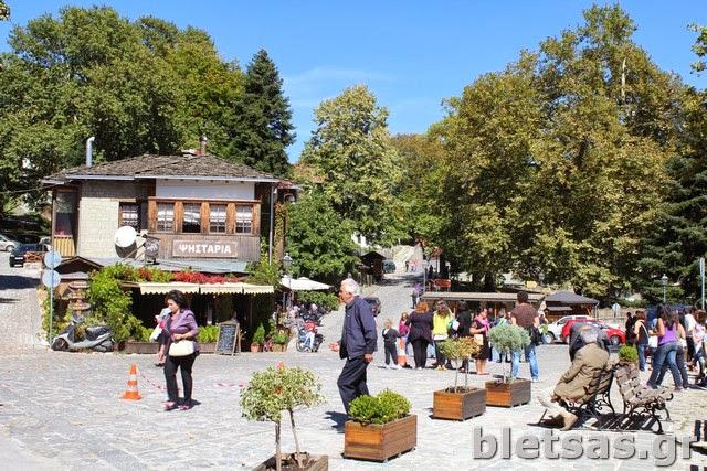 Η κεντρική πλατεία του Μετσόβου.
