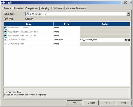 Tasks and Task Developer in  Informatica PowerCenter Workflow Manager