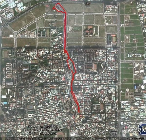 中港大排Google Earth 路線