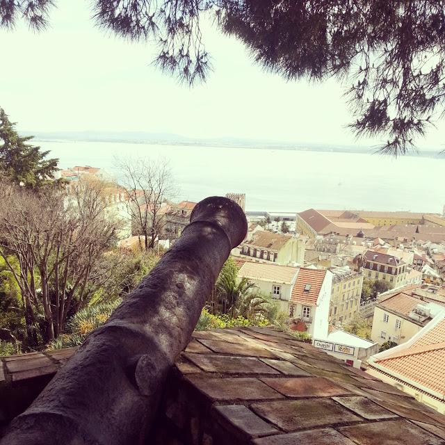 Cannons Saint George's Castle Alfama Lisbon