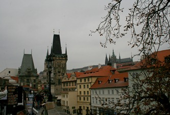 Cloudy day on the Charles Bridge