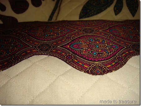 applique quilted cushion