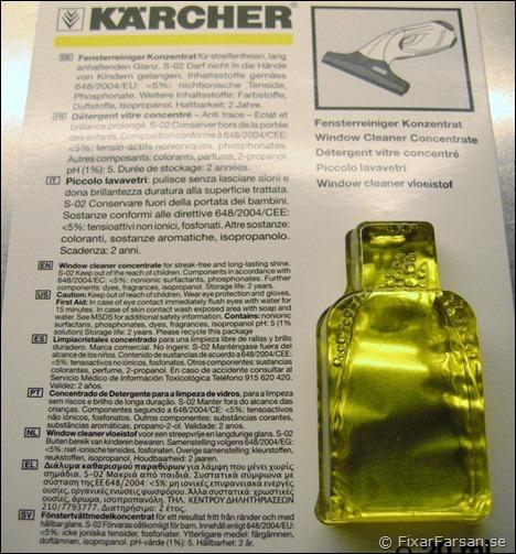 Kärcher-Fönstertvättmedel