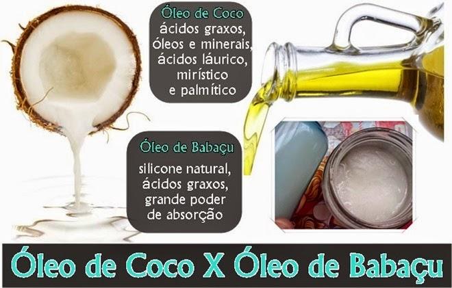 Óleo de Babaçu X Óleo de coco