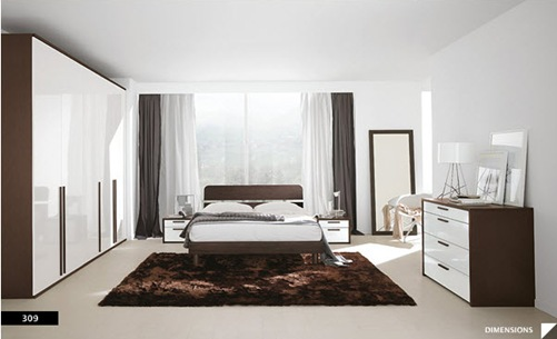 diseños de dormitorios modernos claros