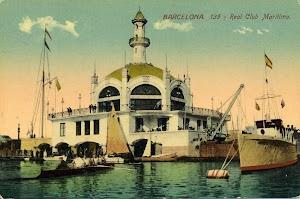 Vista desde la mar del Palacio de la Nautica. Foto Flickr. Colección Jordipostales