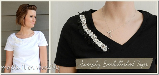 simply embellished tops