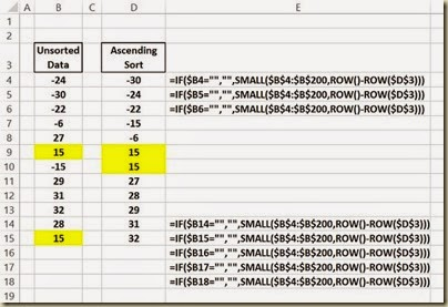 Automated Data Column Sorting in Excel - Automated Ascending Sort in Excel