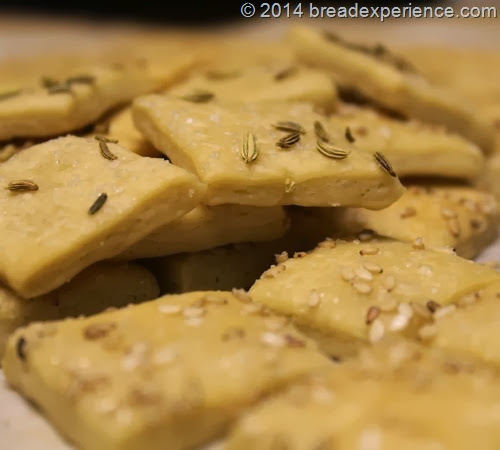 Sourdough KAMUT Crackers with Fennel Seed